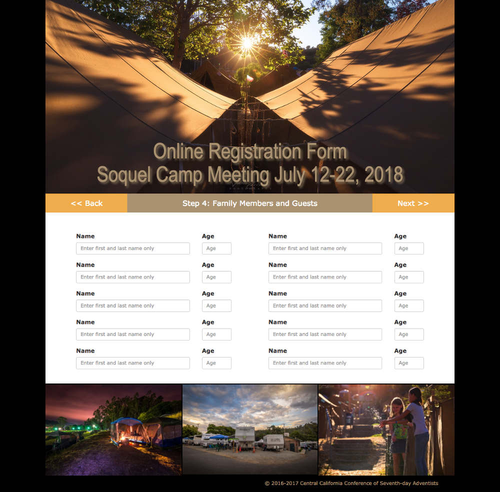 Soquel Camp Meeting online registration form page 4