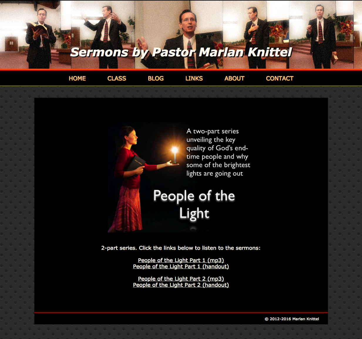 People of the Light page of PastorMarlanSermons.com